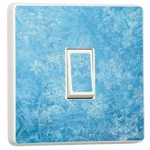 frozen light switch sticker